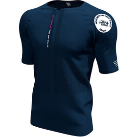 Compressport Trail Top m. 1/2 lynlås Mont Blanc 2020 Herrer, blue